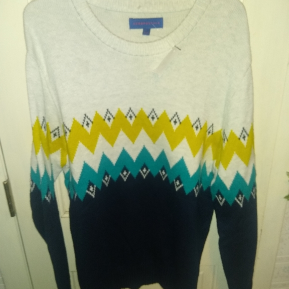 Aeropostale Multicolored Knit Sweater - Large
